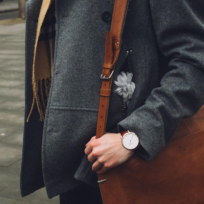 ted baker grey coat burberry scarf lookbook