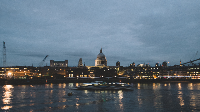 london embankment at night lights
