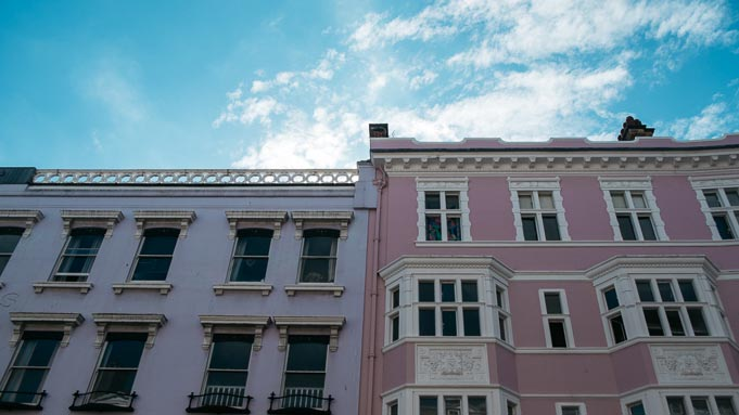 brighton pink purple architecture