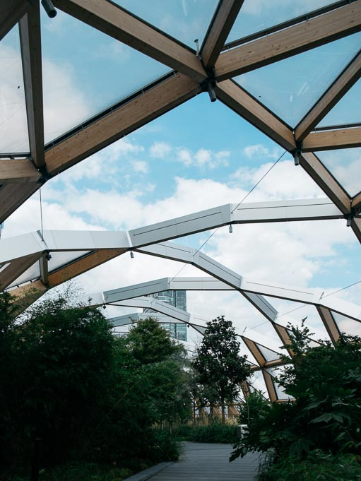 Foster's Crossrail Place roof garden Foster + Partners