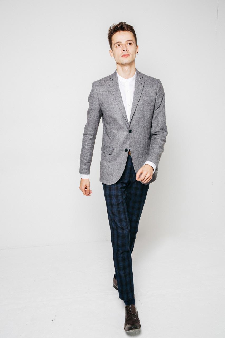 new look men grey blazer lookbook-2