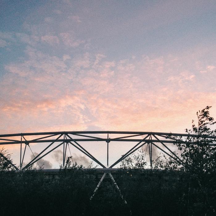 olympic stadium sunset