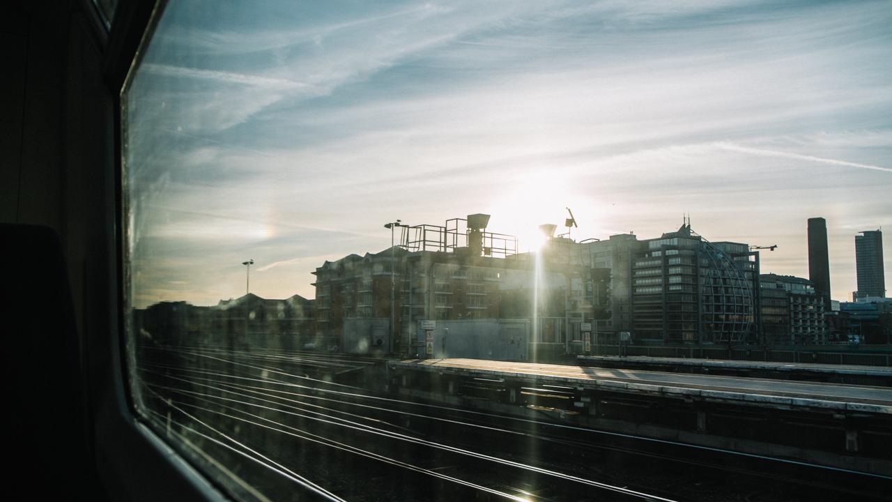 train windows reflections