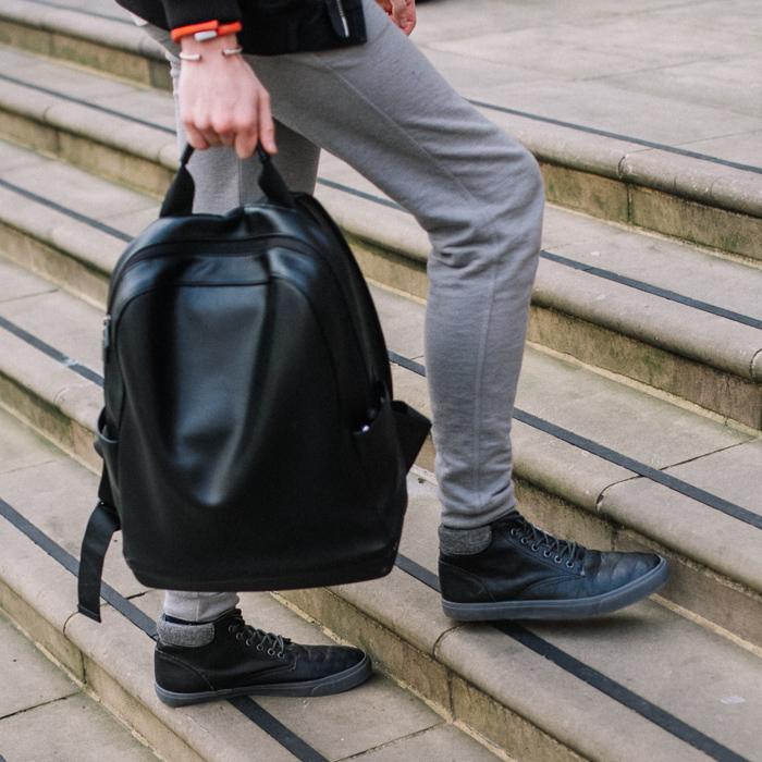 moleskine backpack leather