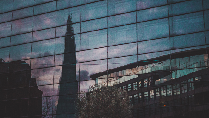 the shard art of visuals reflections
