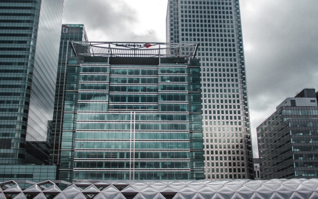 modern glass architecture canary wharf london