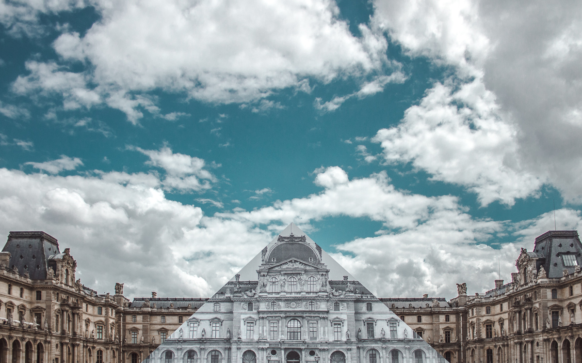 jr artist louvre pyramid paris france