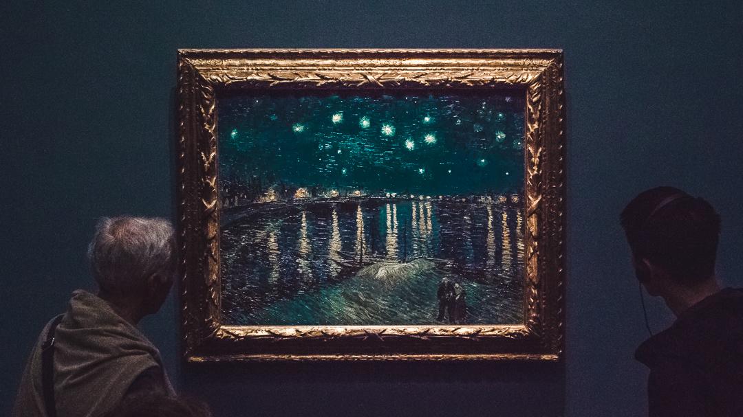 starry night ove the rhone van gogh