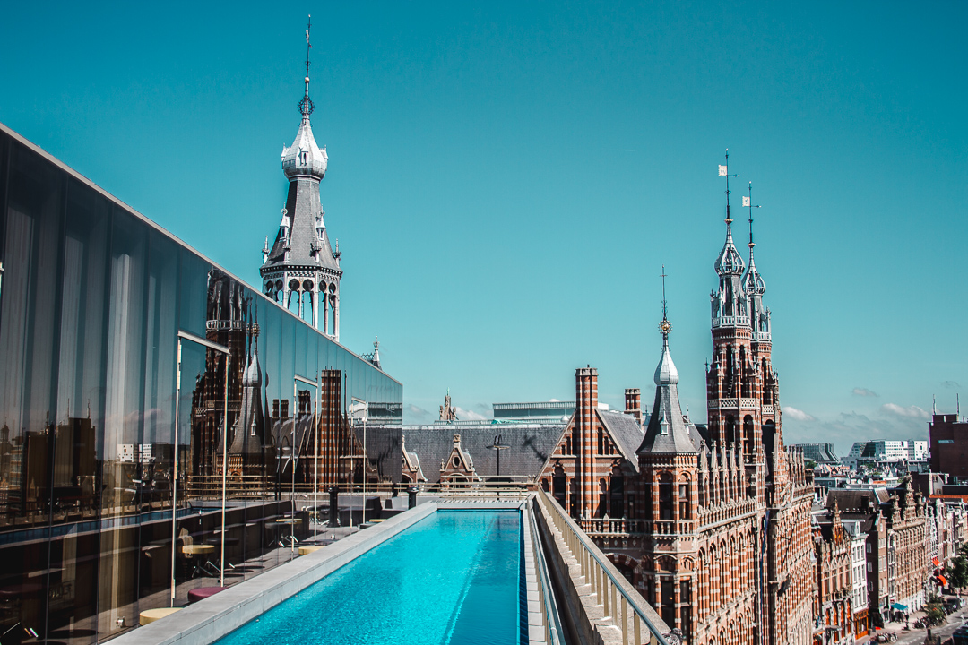 w hotel amsterdam roof pool