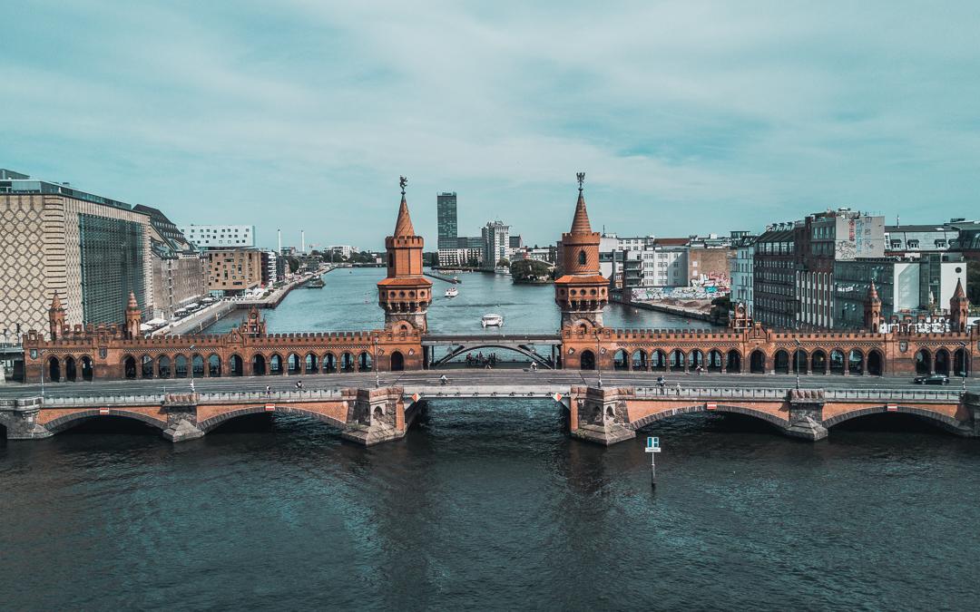 Oberbaum Bridge drone