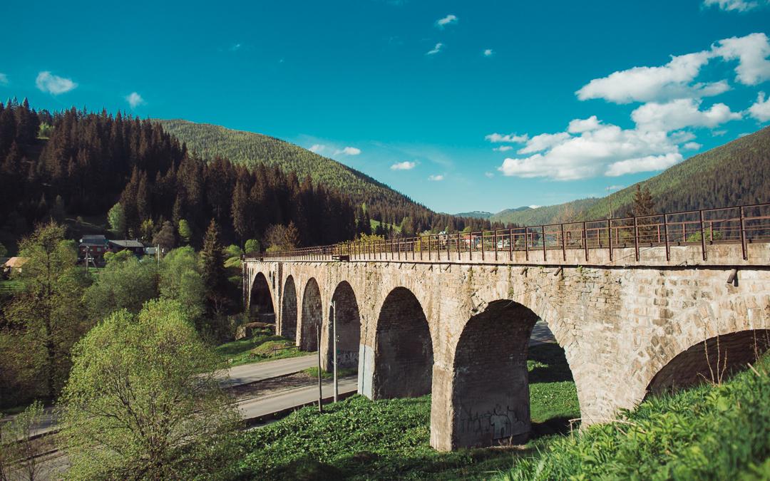 viaduct Vorokhta ukraine