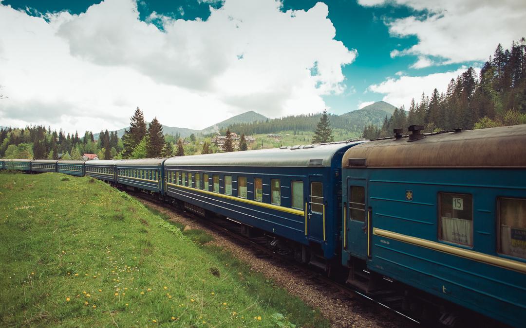 ukraine train mountains