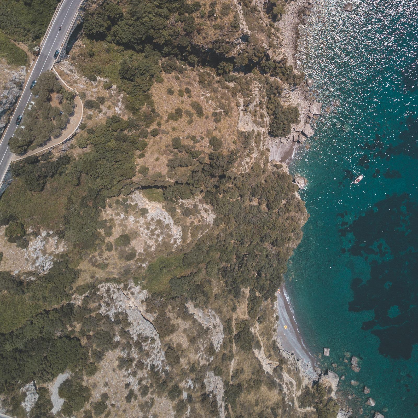 amalfi coast drone
