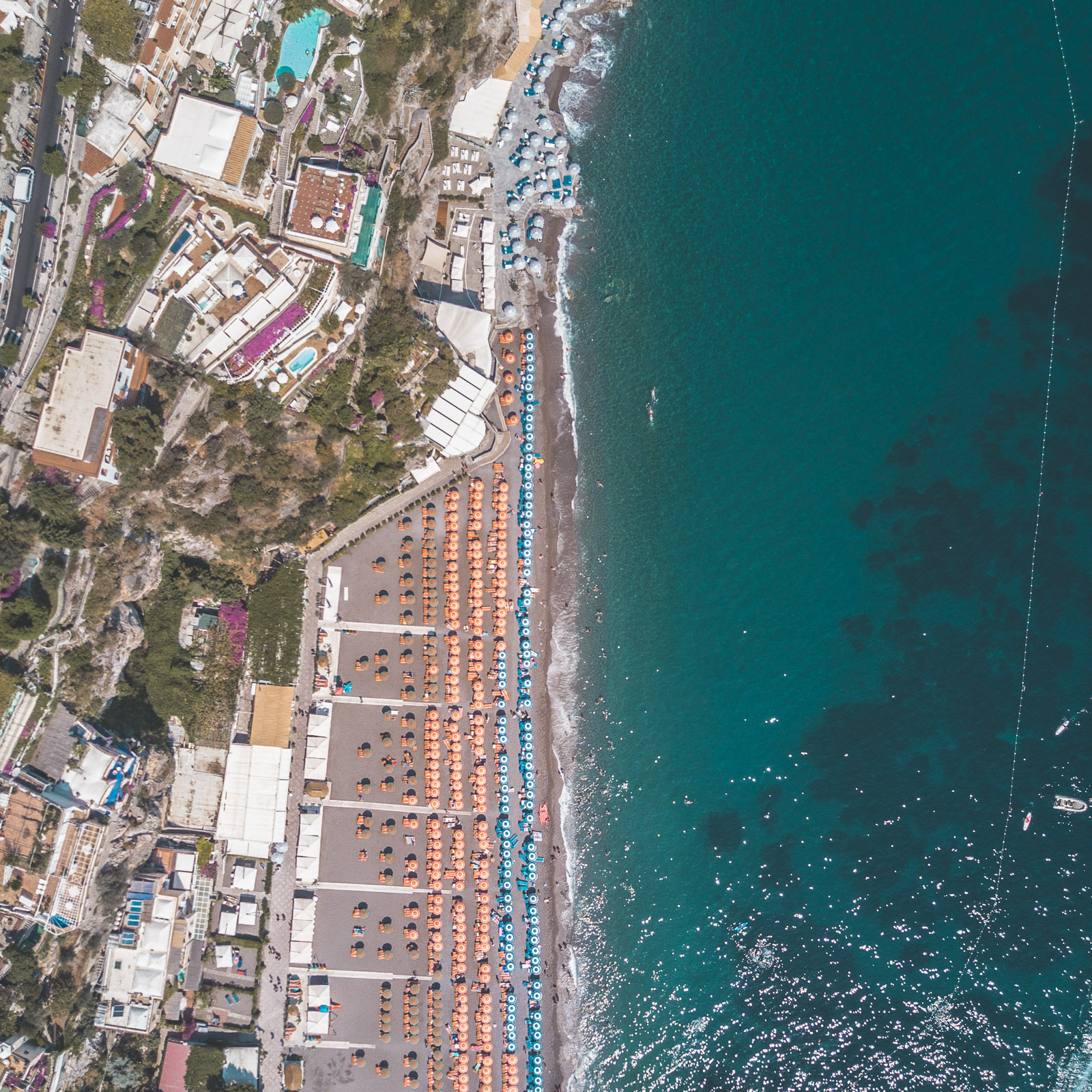 amalfi coast drone positano