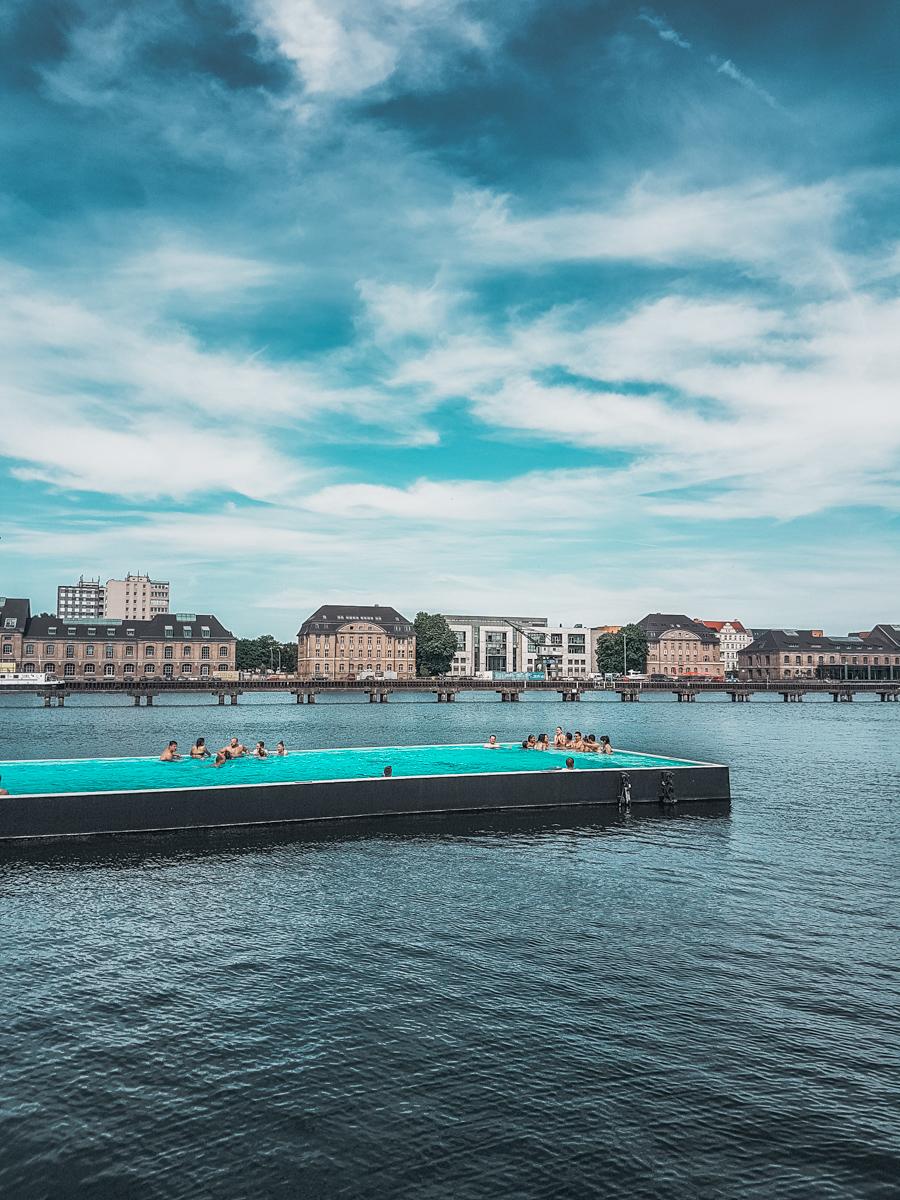 Berlin's Floating Arena Badeschiff Swimming