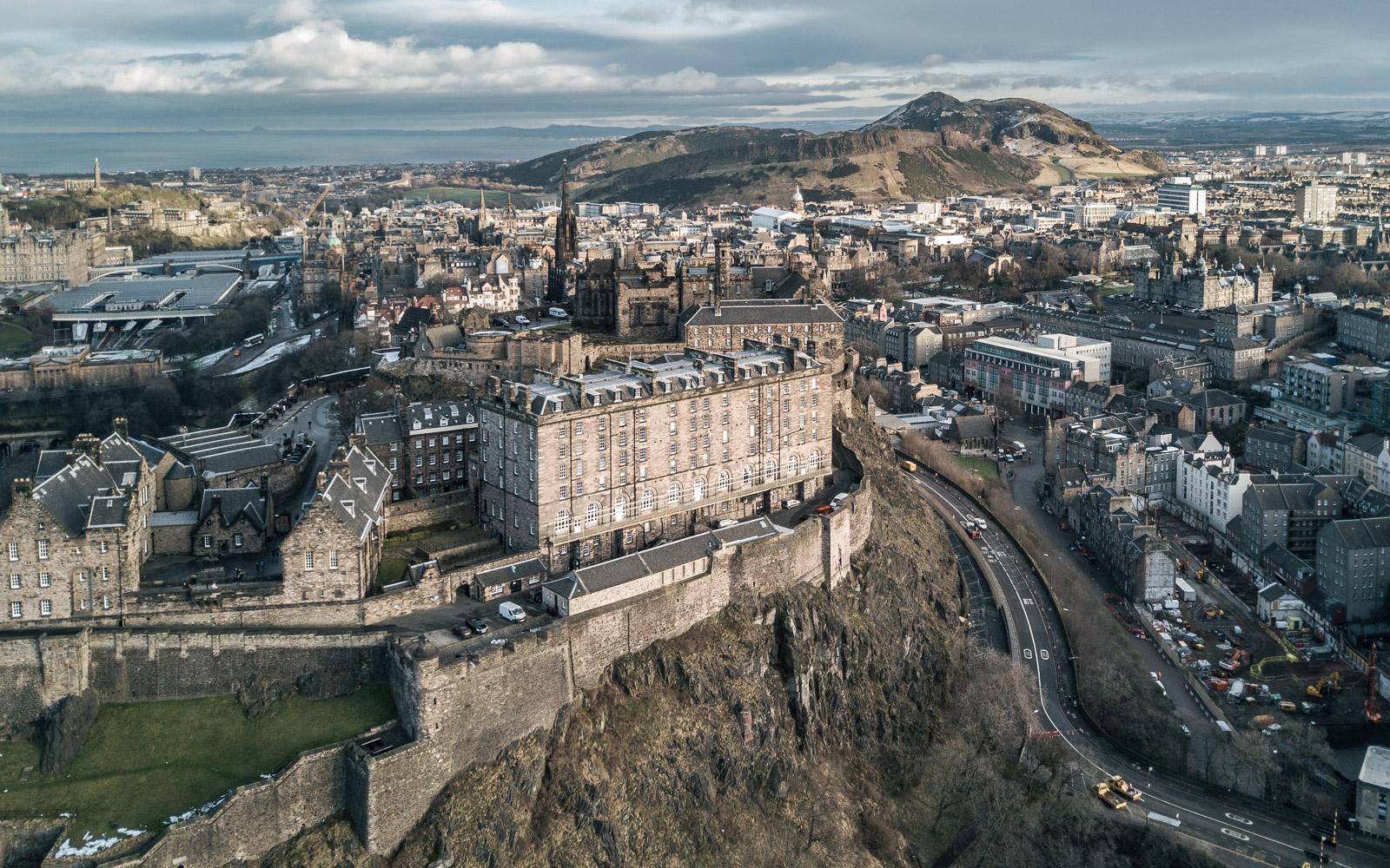 Edinburgh Castle // Holyrood Park drone